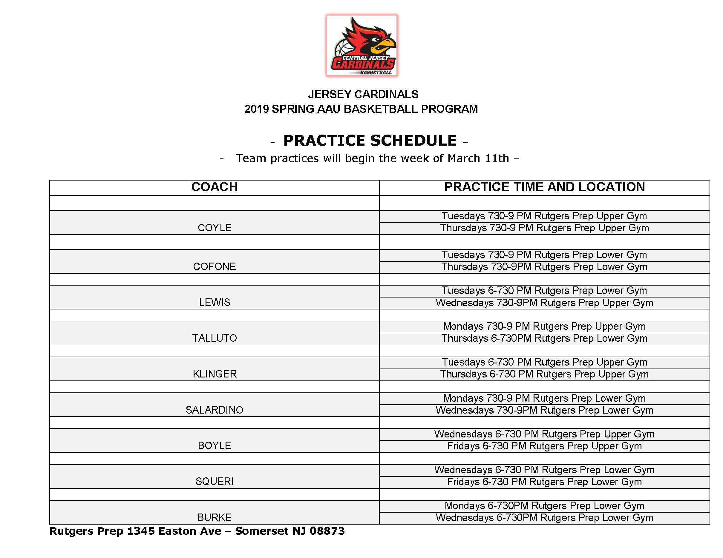 Jersey-Cardinals-2019-practice-schedule
